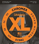 ECB82 Chromes Комплект струн для бас-гитары, Medium, 50-105, Long Scale, D'Addario
