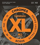 ECG23 Chromes Flat Wound Комплект струн для электрогитары, Extra Light, 10-48, D'Addario